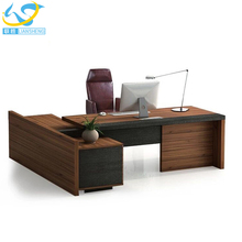 modern office furniture desk L shape executive table luxury office boss table design