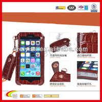 New model croco leather case for iphone 5 , case with lanyard for iphone