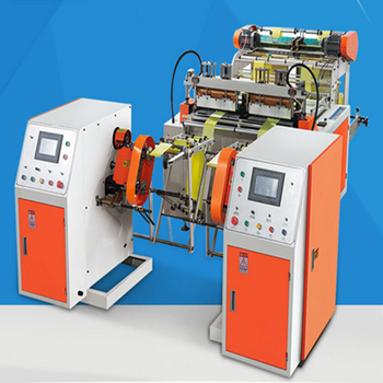 Newest Design Full Automatic Two Layer  Non-Core Plastic Roll Garbage Bag Making Machine