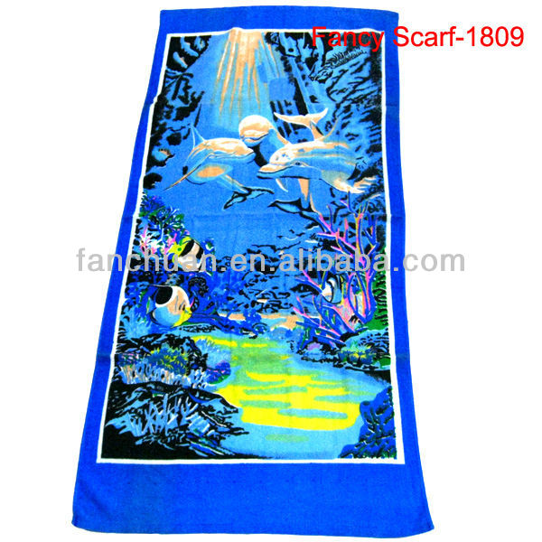 Polyester microfiber sea towel for beach