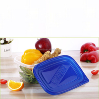 Disposable lunch box sales 1892 ml transparent rectangle sealing plastic boxes Microwave oven take-out packaging boxes
