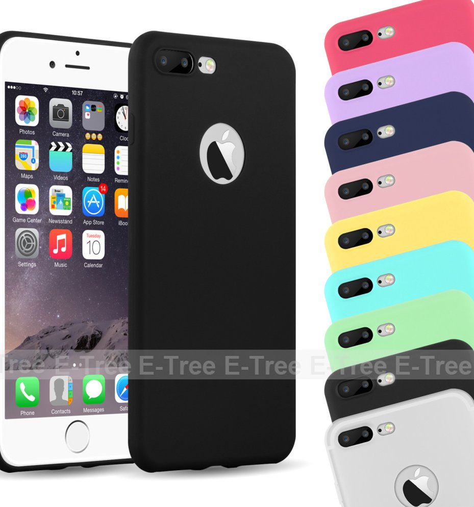 For iPhone 7 Phone Cases, Hot Sales Colorful Colors Soft TPU Silicone fashion Case