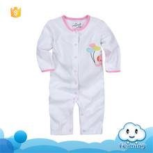 AR-232G organic cotton baby rompers wholesale baby clothes white kids rompers
