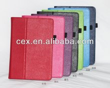 Wholesale - PU Leather Case for Nook HD Tablet Folio Stand Protective Cover Litchi Grain with Stylus Holder