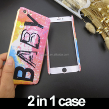 New Style 2 in 1 Full Cover Design matte IMD IML Hard PC Cell Phone Cover Case for iphone 6 7 plus mobile phone case