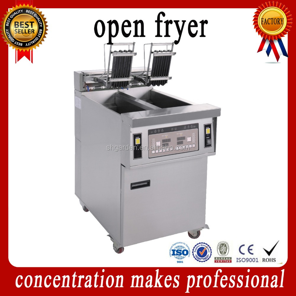 OFE-28A electric automatic lift CE ISO table top pressure fryer,counter top pressure fryer