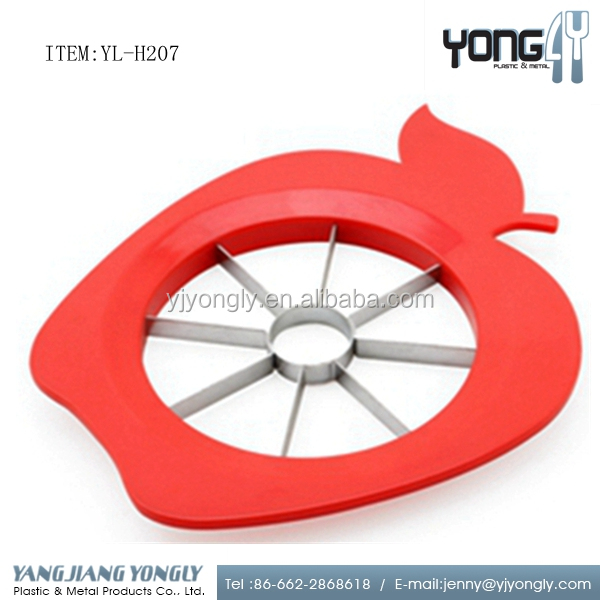 Funny apple shaped Stainless-steel Apple Slicer Corer and Apple Cutter