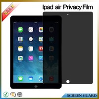 PET anti-spy privacy screen protector/film/guard for apple ipad air