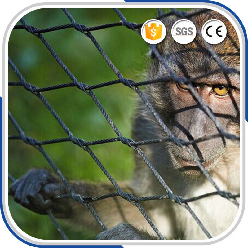 Beautiful Cable Rope Woven x-Tend Mesh Fence For Zoo Lion Safety Protect