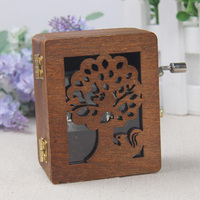 Craft Gift Furnishing Articles Hand Wooden Classical Vintage Music Box