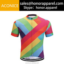 Light Fabric Breathable Customized Any Logo Cycling Jersey Hot Sale Cheap High Quality