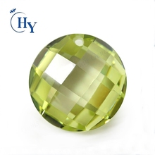 Apple green Color checkerboard cut flatback cubic zirconia flat cut stones for jewelry