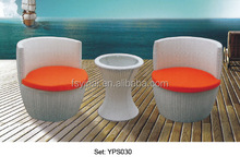 outdoor garden furniture leisure comfortable rattan wicker small round table chairs set YPS030