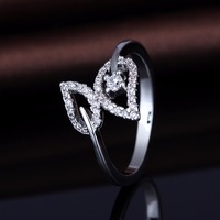Wholesale High Quality Leaf Shape Italy Silver 925 Ring Jewelry