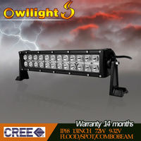 13.5''72w Cree Led Car Light bar, Curved Led Light bar Off road,auto led light arch bent