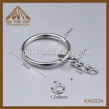 Fashion high quality metal key chain ring holder