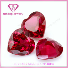 Natural red ruby gemstone hearts wholesale burma ruby stone price