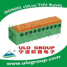 New design pitch:7.5mm spring termianl connector block Manufacturer & Supplier - ULO Group