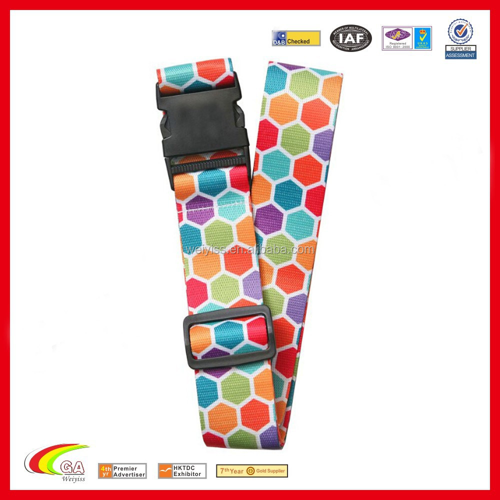 Wholesale Nylon Luggage strap with safety buckle, Luggage strap belt , Traveling luggage strap alibaba china
