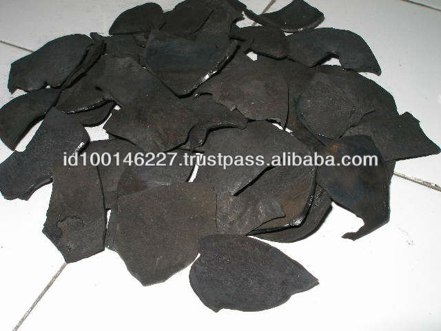 cococut shell charcoal natural size ex Batam