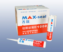 Max-Seal 1000 Acetoxy Silicone Sealant, GP Acetic silicone sealant, silicone raw materials window door toilet and kitchen sealan