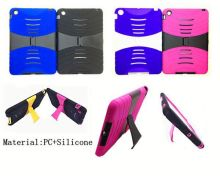 Wholesale Phone Cover Heavy Duty Kickstand Defender Combo Case for iPad Mini