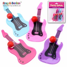 Promotion product small guitar shaped plastic paddle ball toy