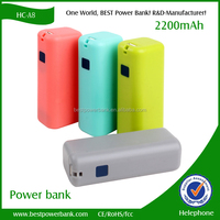 HC-A8 new arrival LED 2600mah rohs power bank