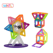 MNTL Clean Colors Magnetic Building Blocks Hot Sales Present Package Toy Tiles Bricks Kit - 154 Pcs Compatible Magformers block