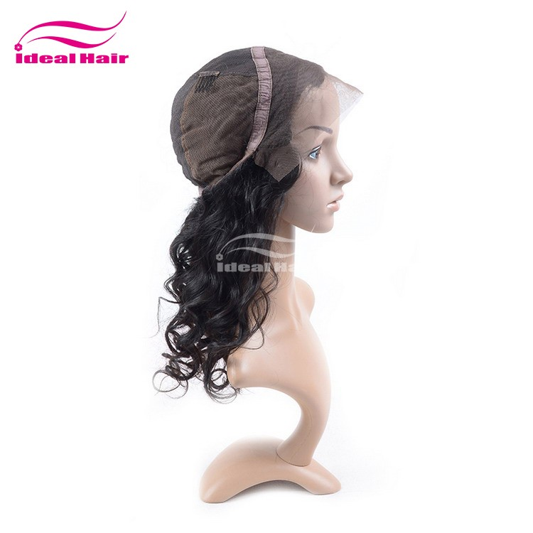 ideal Nice quality wholesale malaysian hair wigs,peruvian hair full lace wig