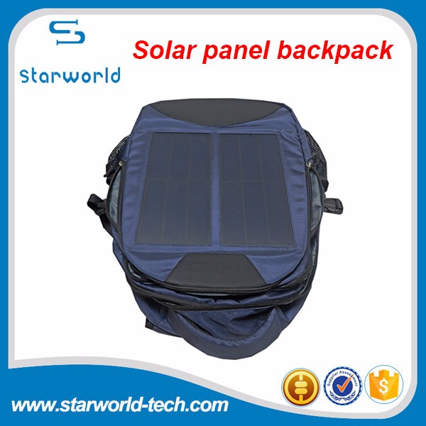 Cheap portable solar power bag 12W 6V solar charger bag for mobile and laptop