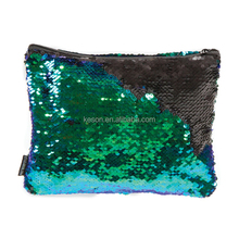 Fashion shiny zipper pouch magic cheap sequin bag cosmetic bag