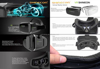 Free Sample Vr Shinecon 3D Virtual Reality Helmet For Apple/Android/Xbox/Psp