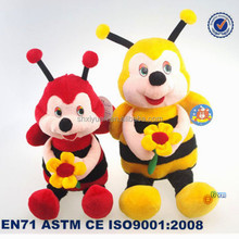 EN71 approved manufacturer cute colorful plush bumble bee toys wholesale