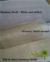 sinamay white, and silk & Abaca sinamay