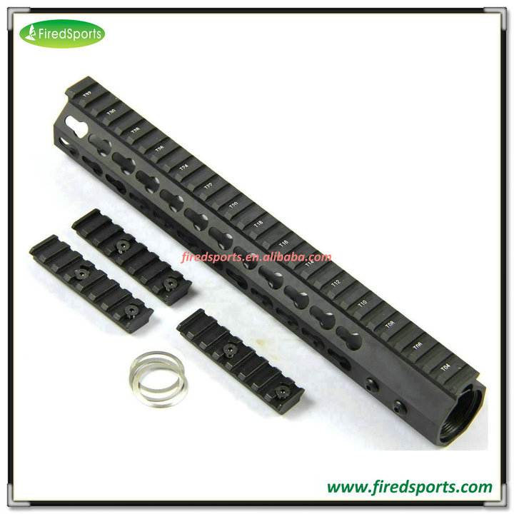 MTS0102-12--Hunting Accessory 12 inch free float handguard Super Slim Handling KeyMod Rail For AR 15