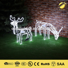 3D deer led motif light christmas outdoor decorative lights fairy led rope light