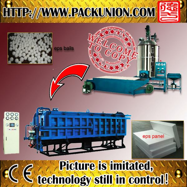 compound polyethylene eps vacuum block moulding machine