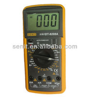 professional handheld digital multimeter dt9208a brands with temperature test