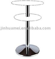 307HCT CHROME BAR Table Base for TWO TABLE TOPS