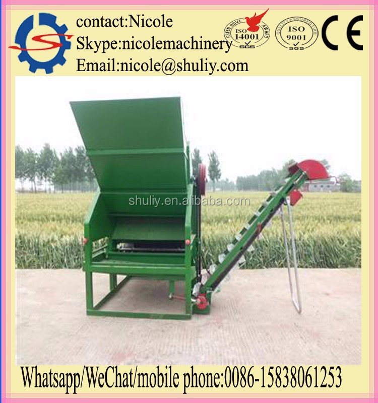tractor drive fresh peanut picking machine from peanut plant on sale 0086-15838061253