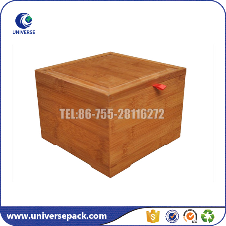 Wholesale handmade unfinished wood toy box with slide lid