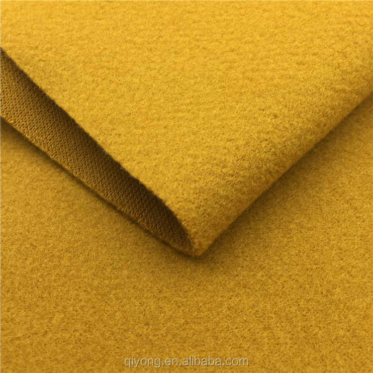 High Grade Knitted Minky Wool Polyester Acrylic Blended Cashmere Slub Knit Fleece Fabric Hot in Europe