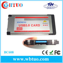 China supply 54/34mm expresscard to 1port usb 3.0 adapter