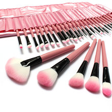 32 PCS Professional Cosmetic Makeup Brush Set with Pink Bag HN1507