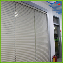 Electric Double Layer Fabric Motorized Shangri-la Blinds for Windows
