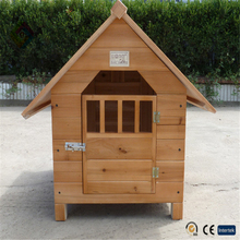 Varnish fir dog house wooden kennel medium and small dog house pet villa dog cage kennel