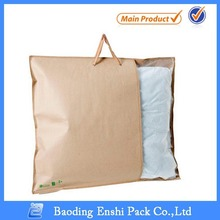 plastic and nonwoven material soft pillow packing bag