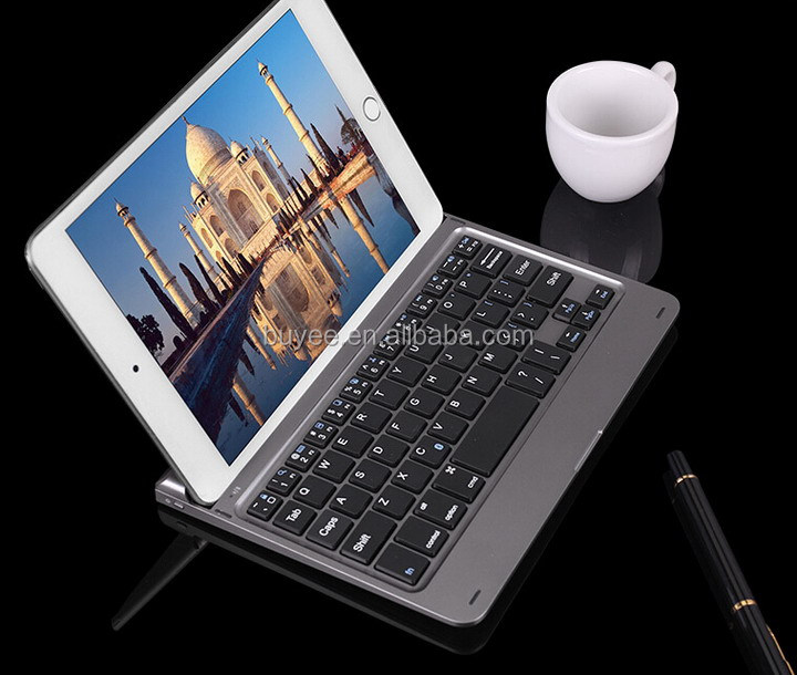 Ultra thin aluminium alloy bluetooth keyboard for iPad mini 4 Tablet PC wireless keyboard