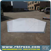 RK interactive led dance floor/car show /different shapes triangle of white shiny wedding dance floor